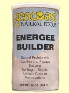 Seacoast Natural Foods Energee Builder Protein Powder (16 oz) is a specially formulated protein powder with 8 essential amino acids to help support, maintain and build muscle tissue.