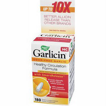 Nature's Way Garlicin HC (90 tabs) is a product that combines all the circulation support of garlic with the cholesterol lowering substance of allicin.