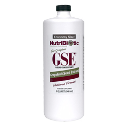 GSE Liquid Concentrate synthesized from the seed and pulp of certified organically grown grapefruit..