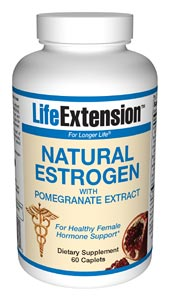 Natural Estrogen with Pomegranate from life Extension is formulated to mimic safe estrogen in the body, promoting balance and well being..