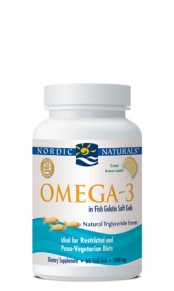 1000 mg Purified Fish Oil in fish gelatin capsules. Ideal for Restricted and Pesco-Vegetarian Diets..