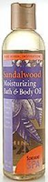 Sandalwood Bath & Body Oil  (8oz) Sunshine Spa