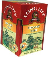 Long Life Organic Chai Tea is a delicious, all-natural tea that is earth-friendly and good for the body..