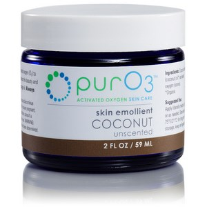 Organic coconut oil infused with activated oxygen (O3) forms a penetrating and oxygen-rich skin emollient. Use to enhance the beauty and appearance of your skin..