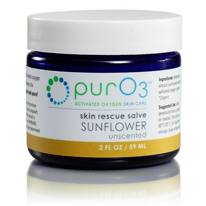 Sunflower oil infused with activated oxygen (O3) forms a soothing, oxygen-rich skin salve.  Buy Today at Seacoast.com!.