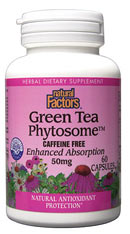Natural Factors Green Tea Phytosome is an antioxidant clinically proven to scavenge free radicals and prevent damage to cellular structures throughout the human body..