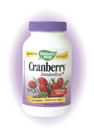 Cranberry extract has been found to promote healthy urinary tract function. Nature's Way Cranberry is a potent blend of cranberry extract and Vitamin C that helps to treat and prevent urinary tract infections. Find relief from painful urinary tract infections with Nature's Way Cranberry..