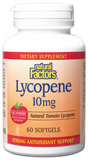 Natural Factors Lycopene 10mg (60 Caps) is a supplement that helps destroy free radicals while also offering protection against prostate diseases.