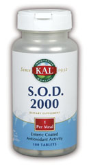 KAL SOD-3 metabolizes the superoxidize radicals in the body. It is a beef liver source that is enteric coated..