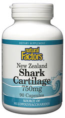 Natural Factors Shark Cartilage may reduce arthritis pain, and combat cancerous cell growth.