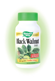 Nature's Way Black Walnut Hull Capsules. Black Walnut (Juglans nigra) was used by indigenous North Americans for food, wood and medicine.