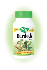 Nature's Way Burdock Root Capsules. This herb combines well with Red Clover, Yellow Dock, and Dandelion..