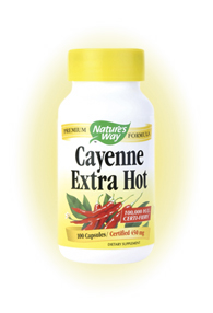 Nature's Way Cayenne Extra Hot is a high-quality, high-potency formula that benefits the heart and the body..