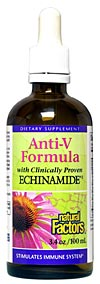Natural Factors Echinamide Anti-V Formula is the optimal formula to support the body's resistance to pathogens..