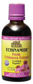 Natural Factors Echinamide Echinacea Extract (1.7 oz) is a wonderfully formulated product that is designed specially to help individuals build their immune system and relieve symptoms of common ailments.