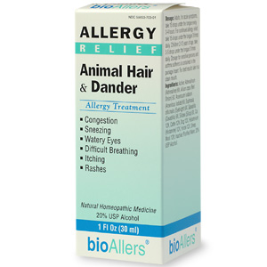 BioAllers Homeopathic Animal Hair & Dander Allergy Treatment.