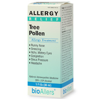 BioAllers Homeopathic Tree Pollen Allergy Treament.