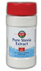 Pure Stevia Extract by KAL is an all-natural sugar alternative that can be used to sweeten drinks and food..