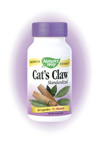 Nature's Way Cat's Claw  is an herbal supplement that helps improve inflammatory disorders and is used as a natural tonic to improve overall health..