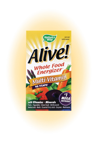 Alive Whole Food Energizer Veggie Capsules Multi-Vitamin.