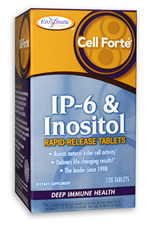 Enzymatic Therapy Cell Forte IP6 with Inositol boosts the immune system by increasing natural killer cell activity..