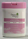Desert Essence Cleansing Towelettes with Organically Grown Essential Oils.