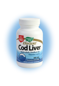Containing high levels of Omega-3 fatty acids, Nature's Way EFA Gold Cod Liver Oil also offers naturally occurring Vitamins A and D, which all work together to build a healthy cardiovascular system, reduce risk for low birth weight, and improve the body's immune system..
