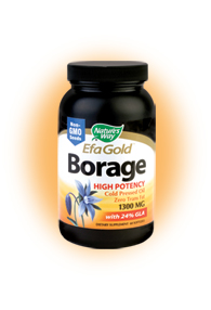 Borage Oil from Nature's Way contains a healthy level of GLA, an important fatty acid that aids in cardiovascular health, bone and joint health, as well as improving healthy skin and overall health..