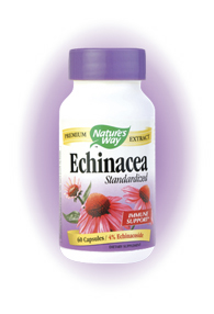 Health & longevity through the healing power of nature-that's what it means to Trust the Leaf Echinacea Extract (Echinaceangustifolia) is standardized to 4% Echinacoside to support the immune system.* This product also contains Echinacea purpurea herb for optimal effectiveness..