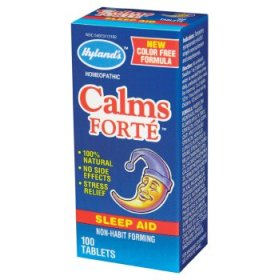 Hylands's Calms Forte is a natural way to calm your nerves and get a good night's rest..