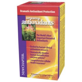 New Chapter Supercritical Antioxidants is a specially formulated blend of powerful antioxidants that all work together to enhance the body's overall health. Antioxidants protect cells against damaging free radicals. Supercritical Antioxidants significantly increase human detoxification enzyme systems..