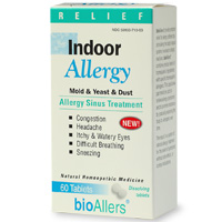 BioAllers: Indoor Allergy provides natural relief for those suffering from allergies and stimulates the immune system to ward off future attacks.