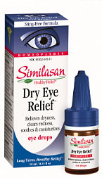 Similasan's unique 'Active Response Formula' quickly stimulates the eye's natural ability to fight dryness and clear redness due to smog, stress, age, contact lens wear, etc.  Gentle enough for children - strong enough for adults..