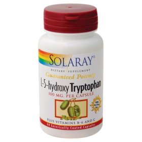 This unique product is a combination of natural L-5-hydroxytryptophan (L-5-HTP), Vitamins B-6 and C, and bioflavonoids..