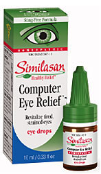 Computer eyes provides natural relief for eye strain from computer and television viewing..