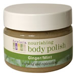 This is a scrub like no other. Organic sugar cane granules lift away dull skin as creamy shea butter, coconut oil and vitamin E restore your skin's vitality and radiance. The warming and replenishing aromas of ginger and mint add the pleasure of aromatherapy to your experience..