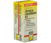 Arnica Montana is a homeopathic remedy indicated for muscular soreness due to overexertion, and facilitates the healing of swelling, bruising, shock, sprains, soreness, injury, and post surgery..