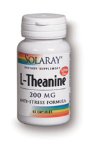 Solaray L-Theanine 200 mg (45 Vcaps) is a supplement designed for optimal relaxation with no drowsiness.