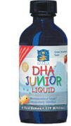 Flavored with a sweet strawberry taste especially for children, Nordic Natural DHA Junior Liquid helps to build strong bones and a healthy nervous sytem, while decreasing risk for cancer and depression..