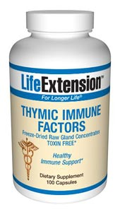 Thymic Immune Factor by Life Extension is a specially formulated blend of herbs and tissue from the thymus, spleen, and lymph system..