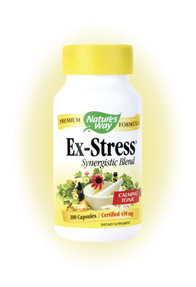 Nature's Way Ex-Stress (100 Caps) is a product specially designed to give users a sense of natural well-being and relaxation while relieving stress.
