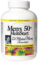 Natural Factors Men's 50+ MultiStart Multiple provides a complete spectrum of vitamins, minerals, lipotropic factors and herbs to support men's various life changes..