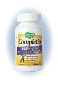 Nature's Way Completia Prenatal Multivitamin, Pamper your baby and yourself with the 'miracle of life' goodness with the right Prenatal Multivitamin. It's a choice of life..