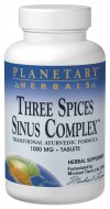 Planetary Formulas Three Spices Sinus Complex uses natural ingredients to support sinus passages, lungs, and the digestive system..