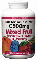 Natural Factors C 500 Fruit Chews Mixed Berry is a delicious, natural way to take your Vitamin C..