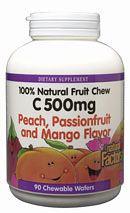 Natural Factors C 500 Fruit Chews come in three delicious tropical flavors that help protect your body. There are no artificial ingredients..