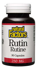 Natural Factors Rutin is used to increase blood circulation, improve blood vessel health and lower blood pressure..