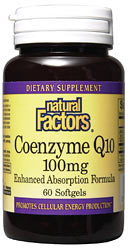 Easy-to-swallow Coenzyme Q10 softgels contain a base of rice bran oil for enhanced absorption and is essential for cellular energy production..