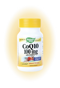 Nature's Way CoQ10, with enhanced absorption and bioavailability, is a powerful antioxidant neccessary for normal heart function and cellular energy production.