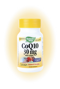Nature's Way CoQ10 is a necessary substance for normal heart function. CoQ10 is vital for cellular energy production and is a powerful antioxidant and free radical scavenger. Softgel delivery is ideal for CoQ10 absorption and utilization because of its solubility in oil..